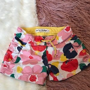 Mini Boden floral shorts size 6 girls